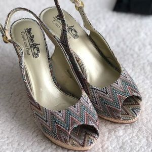 COACH AND FOUR BEAUTIFUL SANDALS